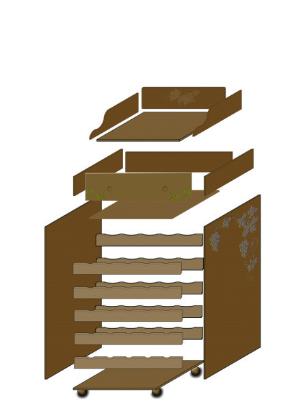 Costruire un mobile porta acquario hamster gehege cage - Costruire un mobile in legno ...
