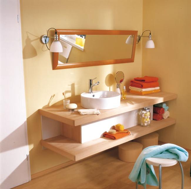 Come costruire un lavabo da appoggio bricoportale fai - Mobiletto bagno da appendere ...