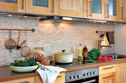 Parete cucina ricostruita