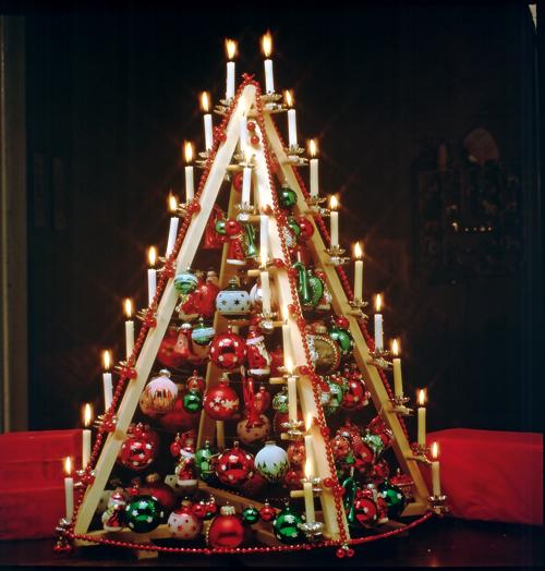 Alberi di natale fai da te con il legno bricoportale - Decorazioni natalizie con il legno ...
