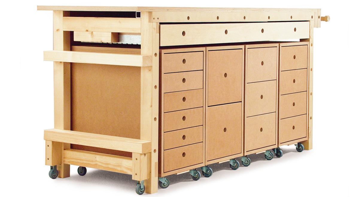 Banco da lavoro su ruote bricoportale fai da te e bricolage for Come costruire i miei piani di casa