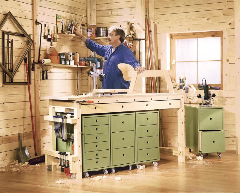 Banco da lavoro su ruote bricoportale fai da te e bricolage for Economico per costruire piani di casa