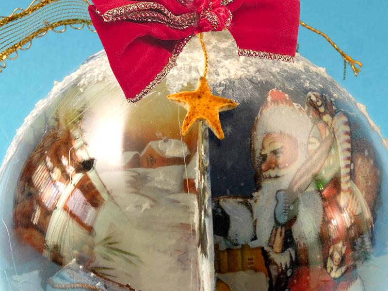 Come realizzare palline decorate di natale bricoportale - Decorazioni decoupage ...