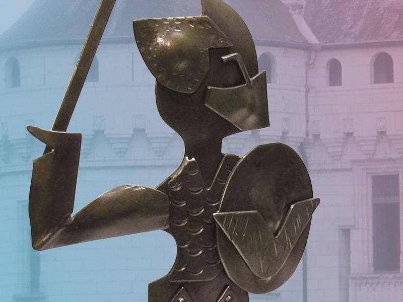 Costruzione di una statuetta di ferro