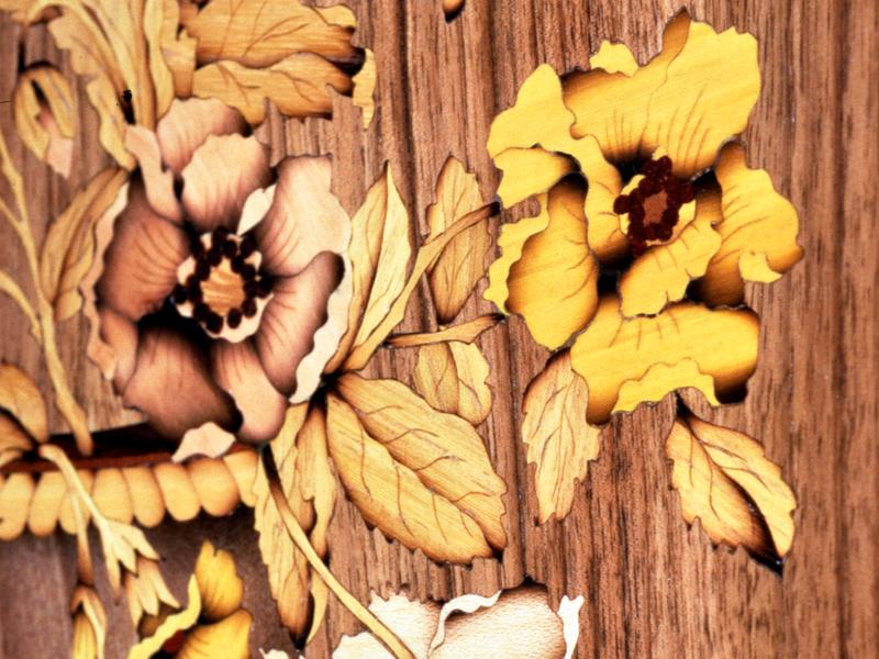 intarsio del legno