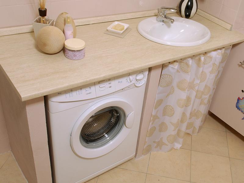 Come incassare la lavatrice bricoportale fai da te e bricolage - Mobile lavandino lavatrice ...