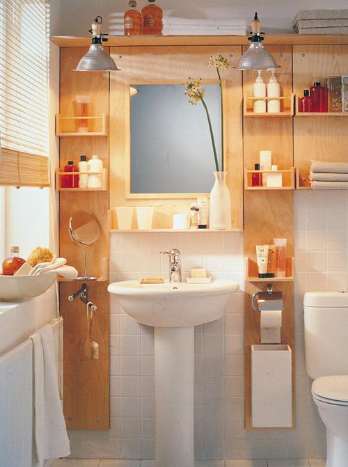 Recuperare spazio in bagno bricoportale fai da te e - Costruire mobili in legno fai da te ...