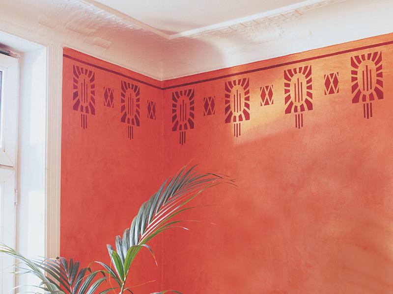 Decorazioni murali con stencil bricoportale fai da te e for Stencil per pareti
