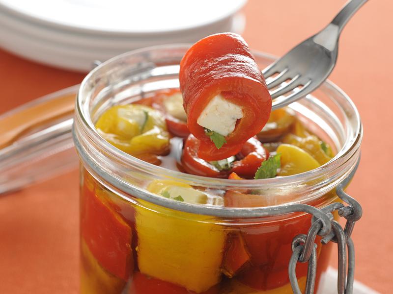ricetta peperoni e feta