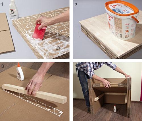 Tavolini con tronchi di legno bricoportale fai da te e bricolage - Mobili in cartone pressato ...