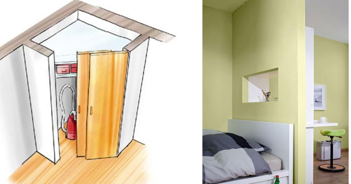 Semi parete in cartongesso separa gli ambienti - Costruire una parete in cartongesso ...