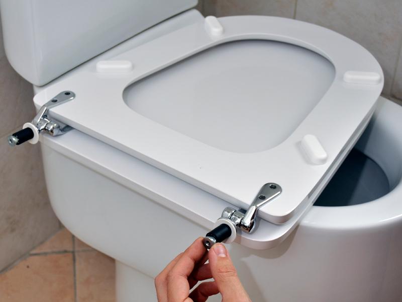 Sostituzione dei copriwater bricoportale fai da te e bricolage - Tazza del bagno ...