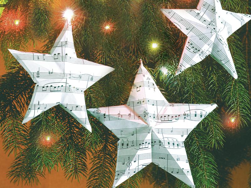 Decorazioni natalizie di carta per l 39 albero bricoportale - Decorazioni natalizie con tovaglioli di carta ...