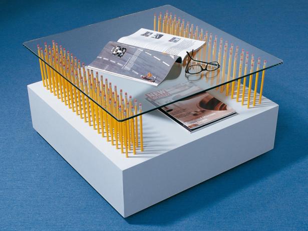 Tavolino da salotto | Come costruirlo con l'ausilio di 126 matite