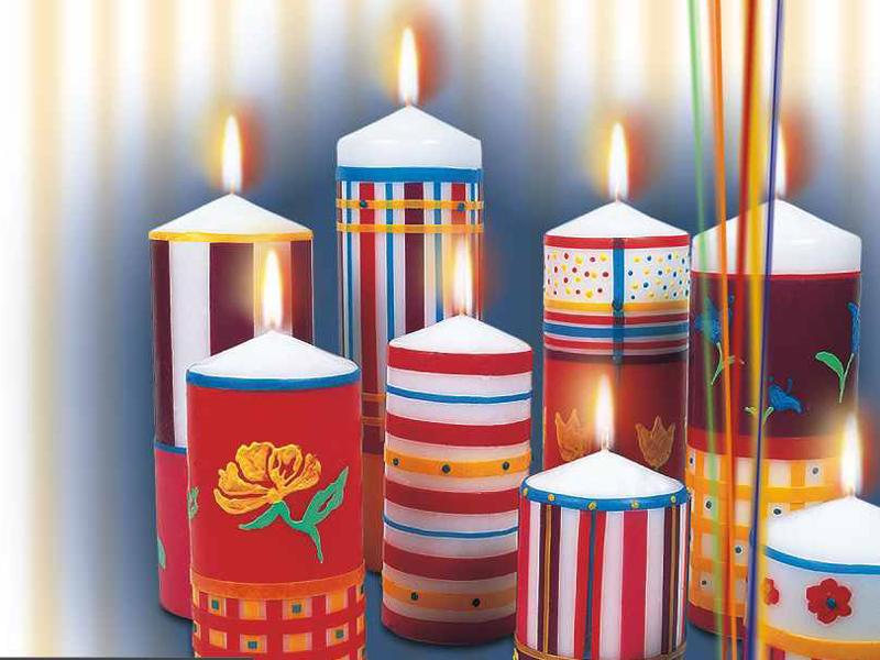 decorare le candele