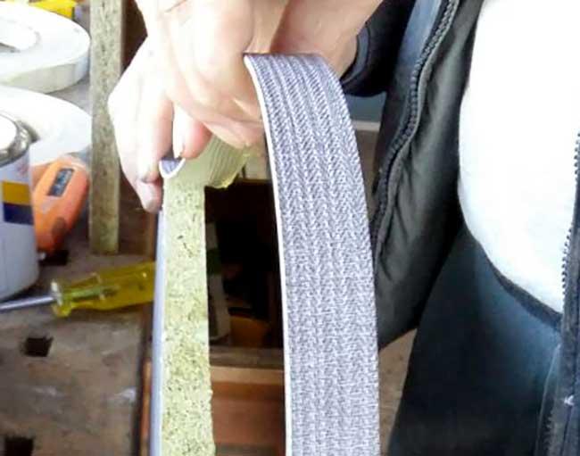 tessuto per rivestimento bordi