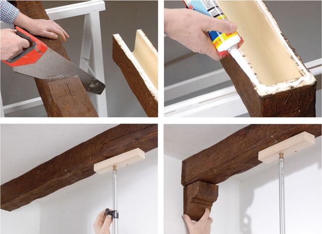 applicare travi sintetiche in legno