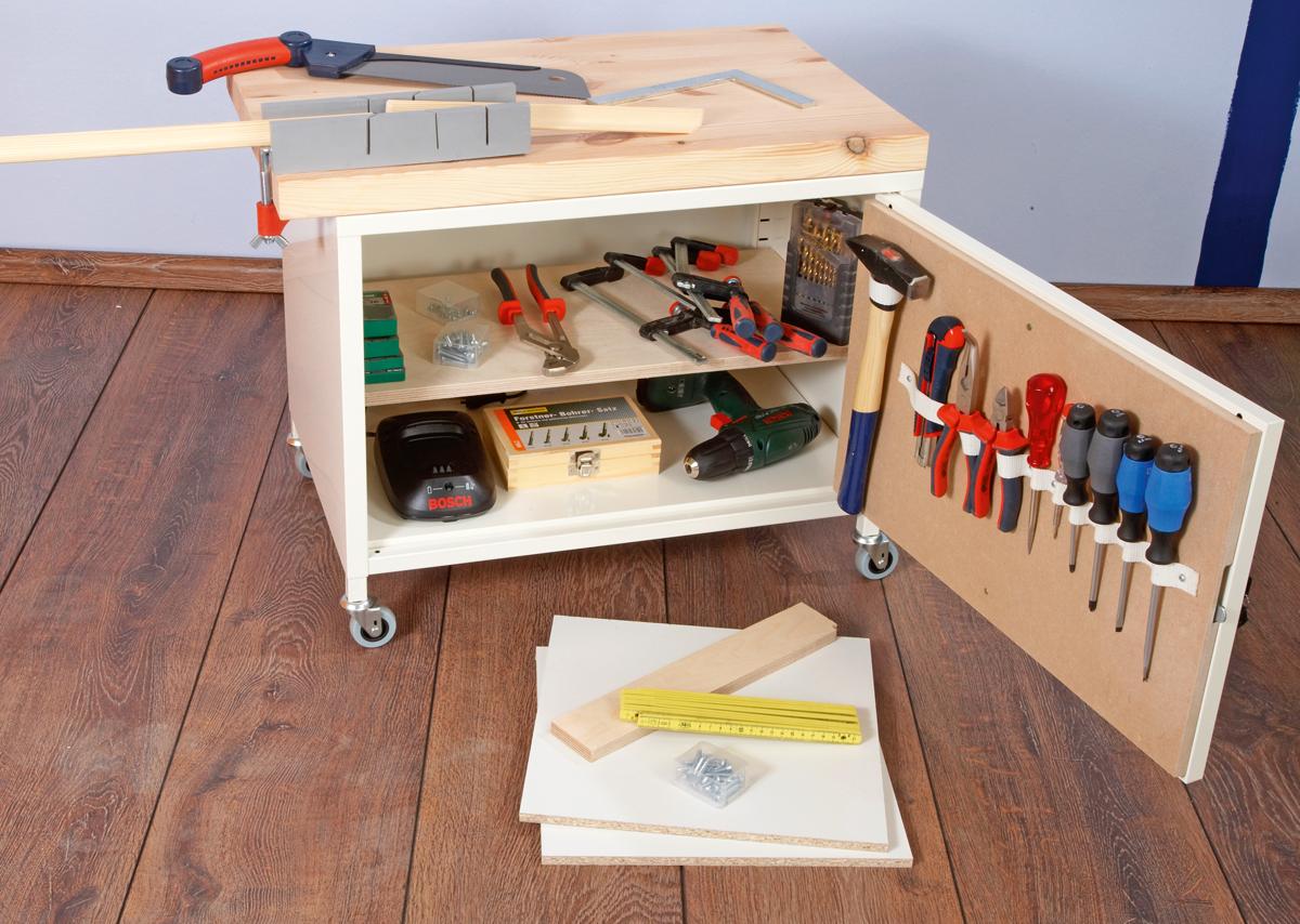 Portattrezzi trasformato bricoportale fai da te e bricolage - Parete in legno fai da te ...
