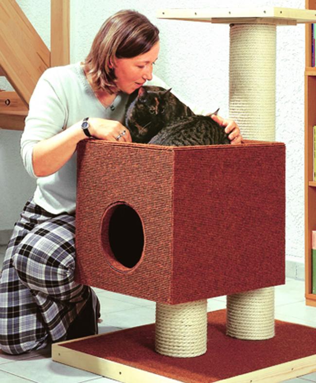 Come costruire un tiragraffi per gatti fai da te
