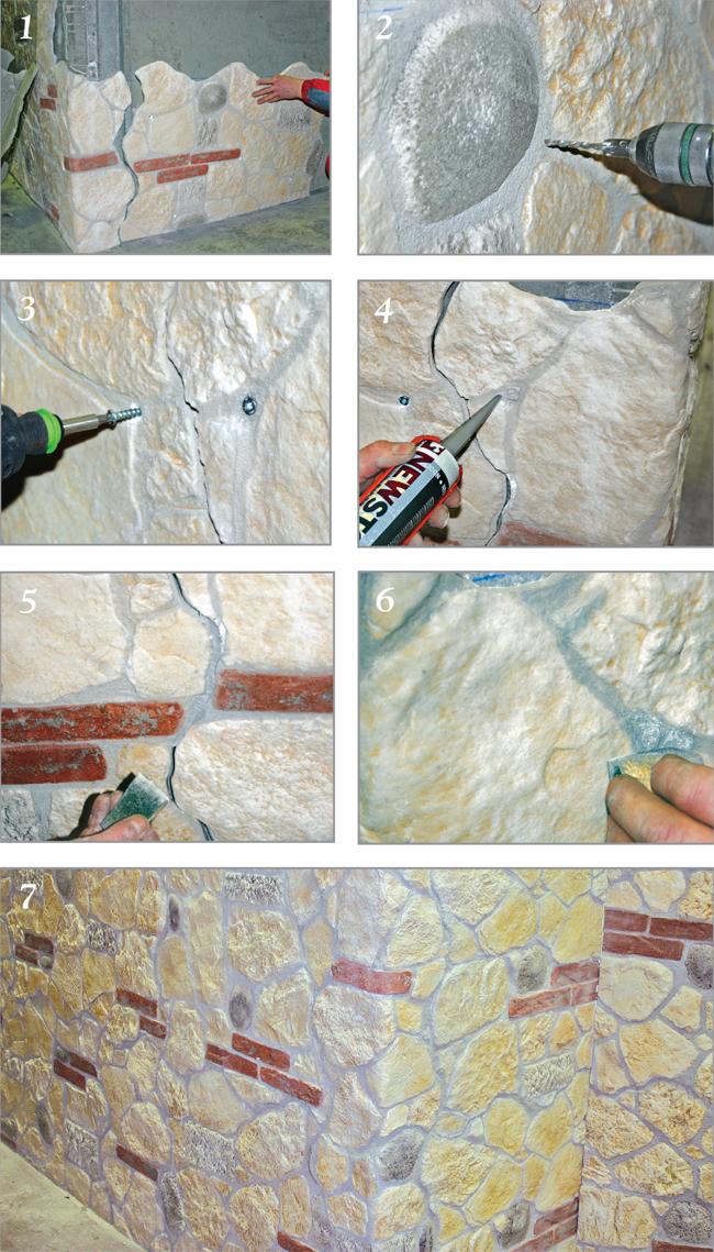 Pannelli finta pietra come sceglierli e come installarli in autonomia - Stuccare piastrelle bagno ...