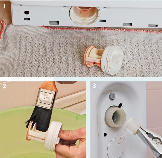 controllo filtri lavatrice