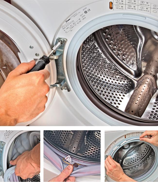 sostituire la guarnizione della lavatrice