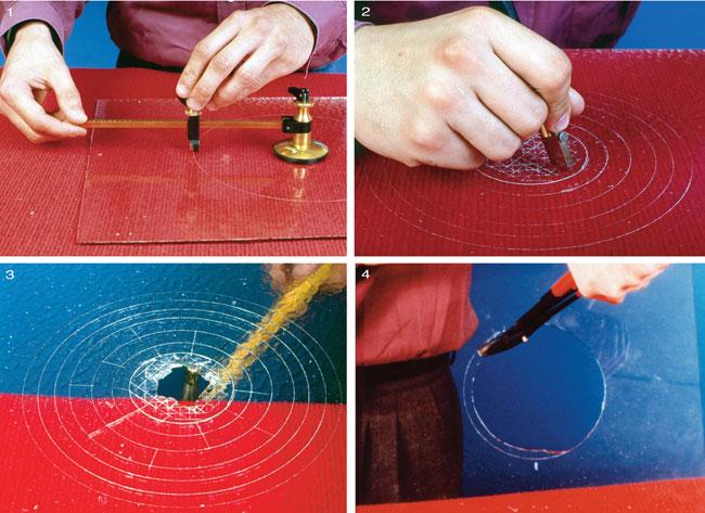 tagliare vetro con rotella