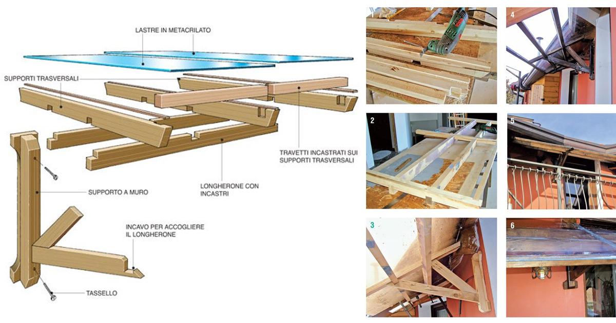 Tettoia fai da te legno 7 foto descritte passo passo e progetto - Costruire mobili in legno fai da te ...