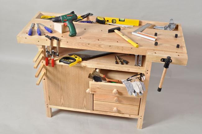 Banco da falegname in kit tavolo consolle allungabile for Banco da falegname progetto