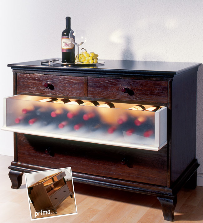 Mobile per vini vetrina mobile freddo per vino xx h with - Mobile porta vino ...
