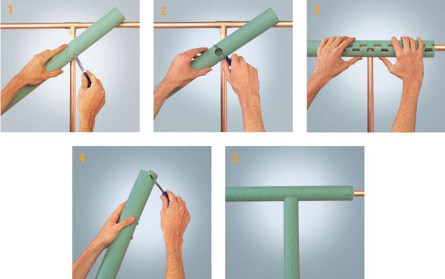 Coibentare tubi con chiusura a cerniera bricoportale for Isolamento per tubi di riscaldamento in rame