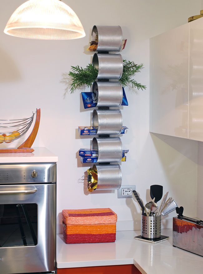 portaoggetti da parete, portaoggetti, barattoli, riciclo creativo, dispensa, pizza,