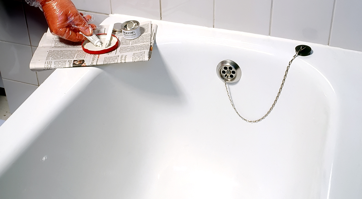 Verniciare Vasca Da Bagno Ghisa : Smaltare vasca da bagno bricoportale fai da te e bricolage