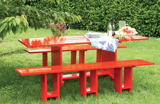Tavolo fai da te in legno bricoportale fai da te e - Panche e tavoli da esterno ...