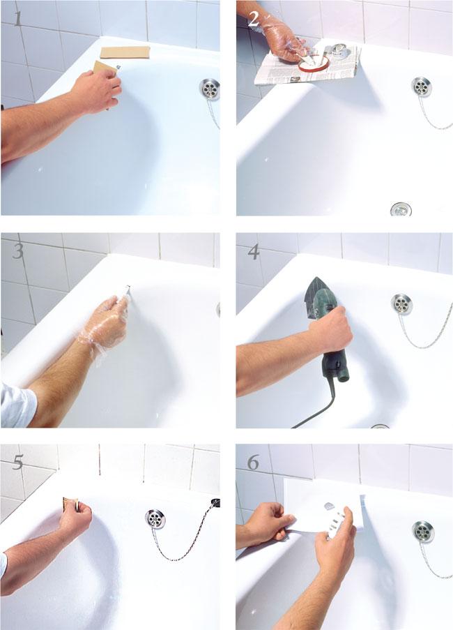 Smaltare vasca da bagno bricoportale fai da te e bricolage - Profilo vasca da bagno ...