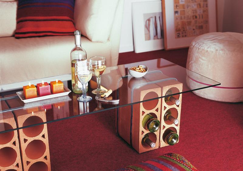 Tavolino cantinetta coi mattoni bricoportale fai da te - Costruire tavolino ...