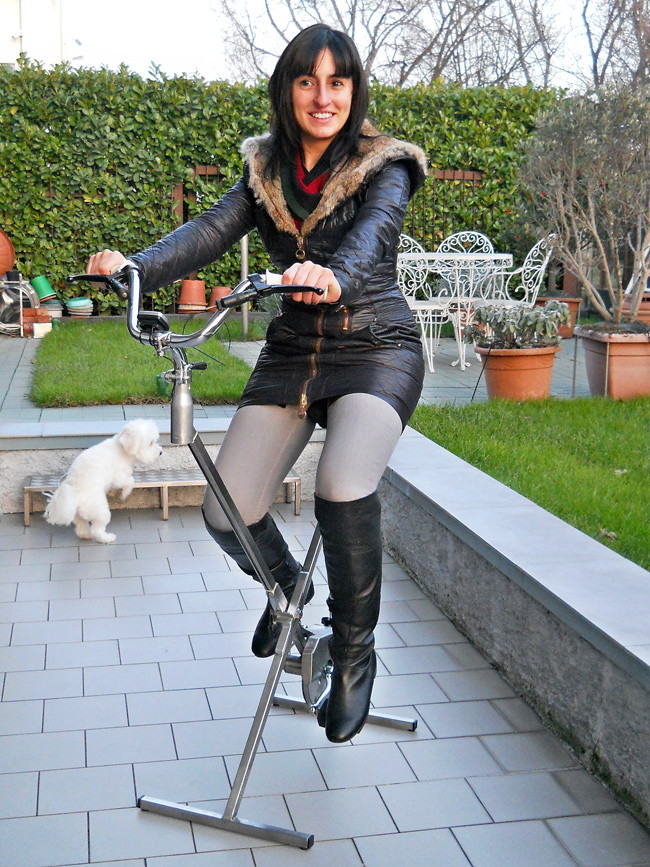 cyclette pieghevole, cyclette, cyclette fai da te, costruire una cyclette, cyclette ellittica,