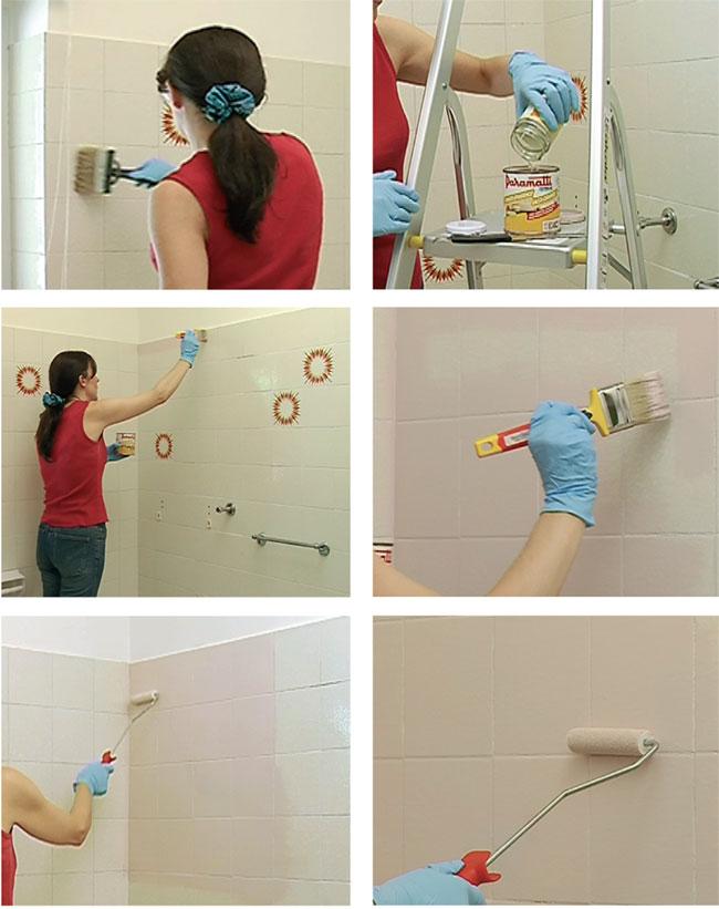 Come applicare la pittura per piastrelle bricoportale fai da te e bricolage - Verniciare le piastrelle ...