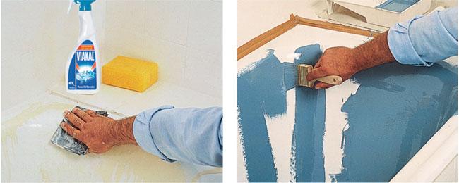 Pittura per piastrelle bricoportale fai da te e bricolage for Vernice per vasca da bagno