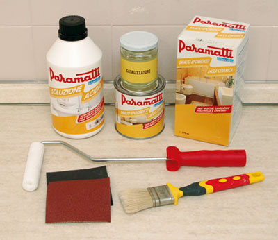 Come applicare la pittura per piastrelle bricoportale fai da te e bricolage - Primer per piastrelle ...
