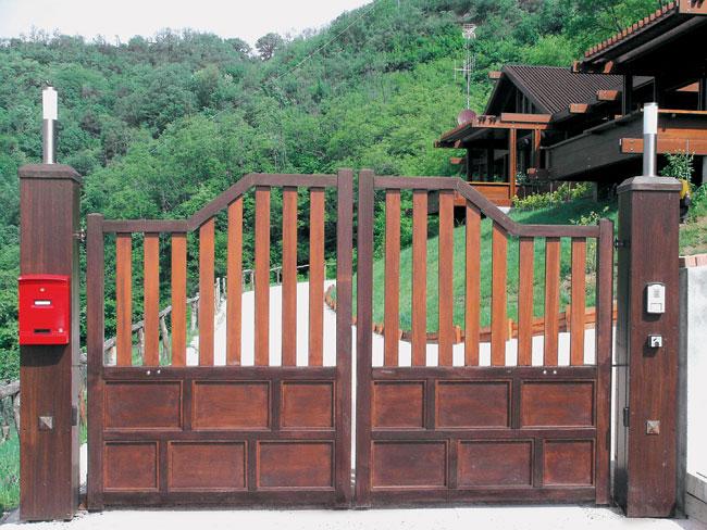 come costruire un cancello in legno bricoportale fai da