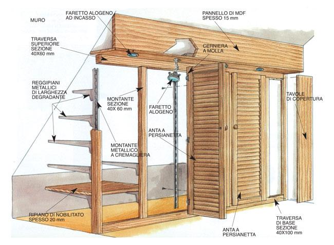 Armadi per mansarde fai da te bricoportale fai da te e bricolage - Armadi per esterno in legno ...