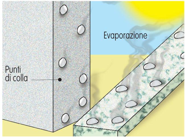 evaporazione colla