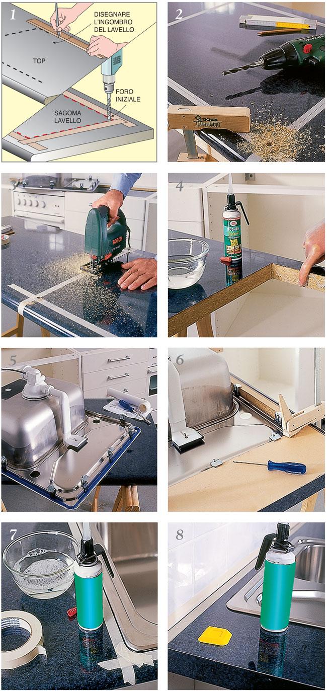 Mobile Per Lavabo Cucina installazione lavello cucina - bricoportale: fai da te e