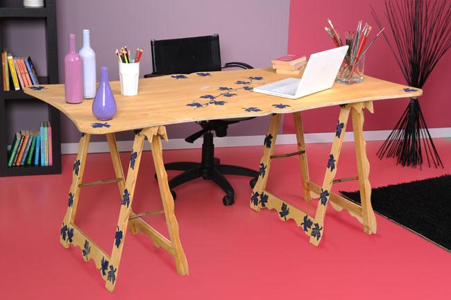 tavolo con cavalletti, tavolo con cavalletti fai da te, tavolo fai da te, cavalletti per tavolo, cavalletti di legno, cavalletti in legno, cavalletti legno