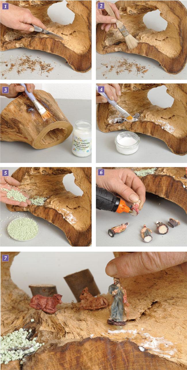 come realizzare un presepe di legno