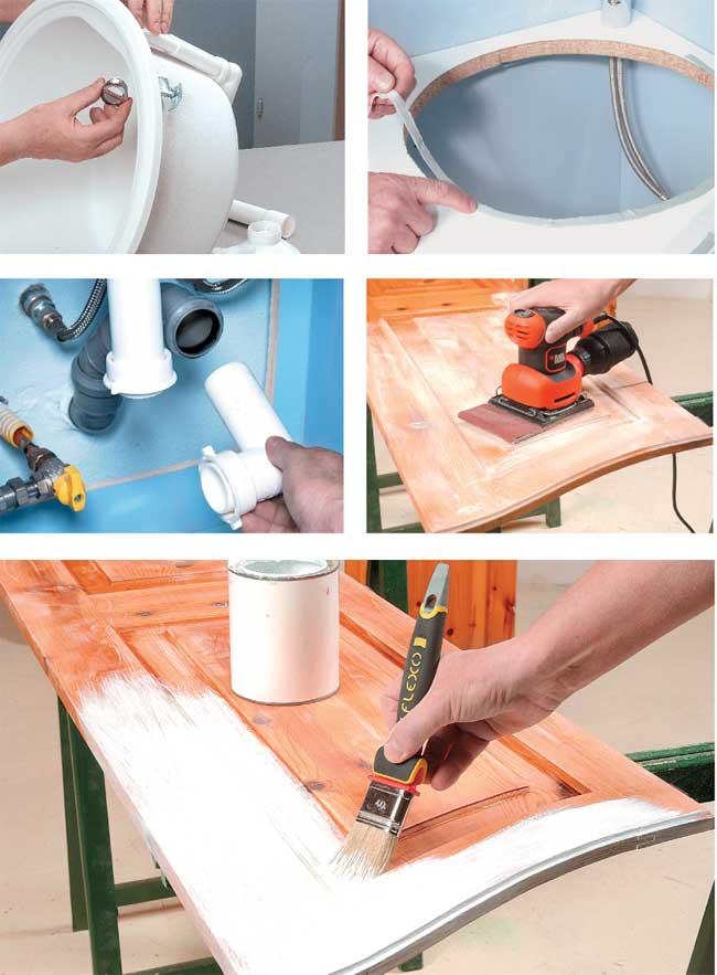 Cucina nascosta in un armadio costruzione fai da te dettagliata - Cucine fai da te in legno ...