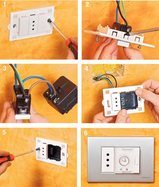 Schema Elettrico Lampada Di Emergenza A Led : Come installare lampade di emergenza nelle prese casa