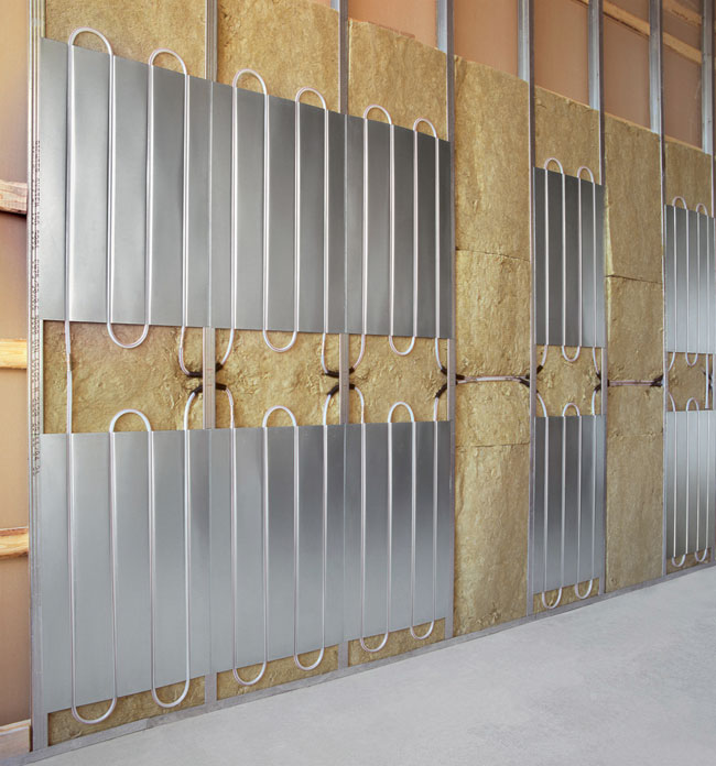 Pannelli radianti a parete