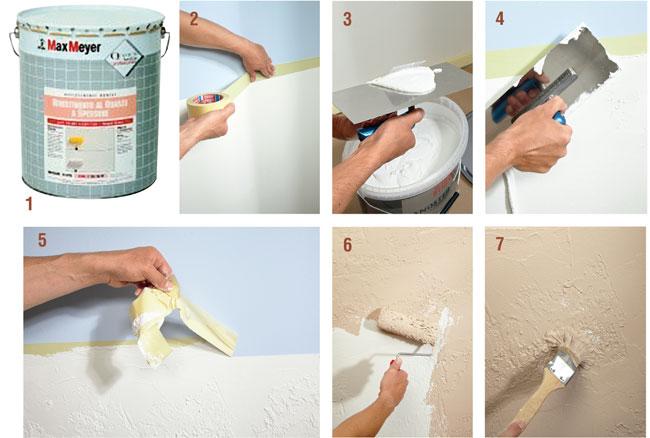 Pitture Murali Per Interni Spatolato : Pitture per interni decorative bricoportale fai da te e bricolage